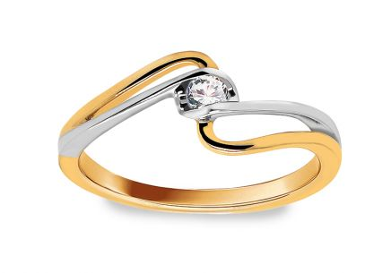 Engagement Ring with Diamond 0,080 ct Sheila 8