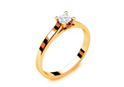 Engagement Ring with Diamond 0,090 ct Royal Heart 7 Yellow