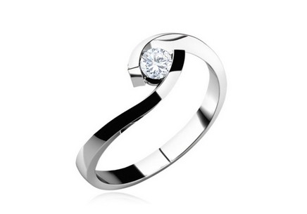 Engagement Ring with Diamond 0,100 ct Lines of love 1