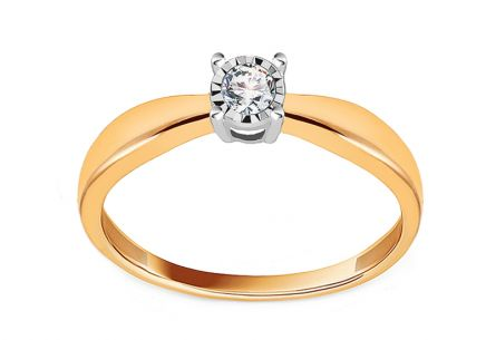 Engagement Ring with Diamond 0,100 ct Promise 3