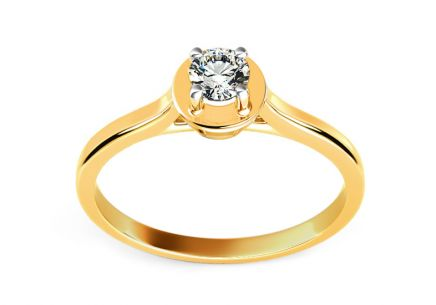 Engagement Ring with Diamond 0,110 ct Promise 8