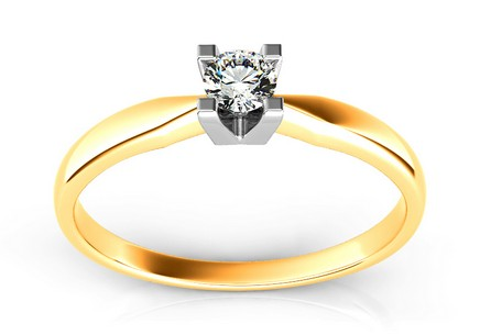 Engagement Ring with Diamond 0,120 ct Promise 6