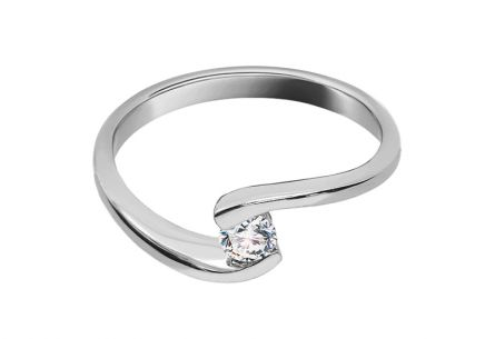 Engagement Ring with Diamond 0,150 ct Lines Of Love