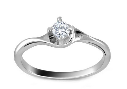 Engagement Ring with Diamond 0,160 ct Melly white 1
