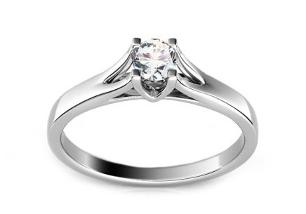 Engagement Ring with Diamond 0,210 ct Selly