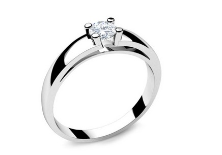 Engagement Ring with Diamond 0,230 ct Royal Heart 1