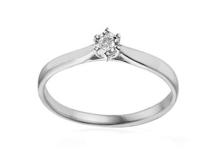 Engagement Ring with Diamond Lawanda 0.040 ct