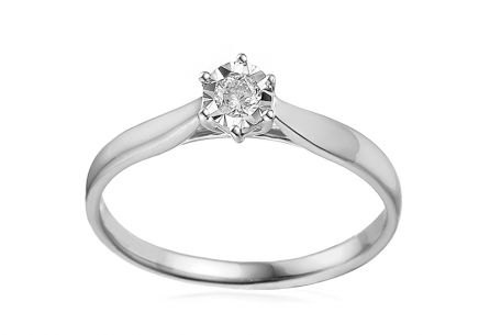 Engagement Ring with Diamond Lawanda 3 white