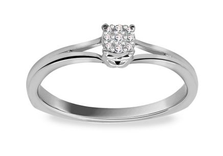 Engagement Ring with Diamonds 0,030 ct Elinor 8