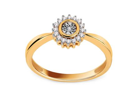 Engagement Ring with Diamonds 0,060 ct Daria