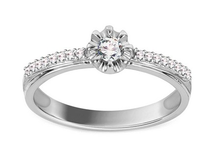 Engagement Ring with Diamonds 0,170 ct Jenny white 2