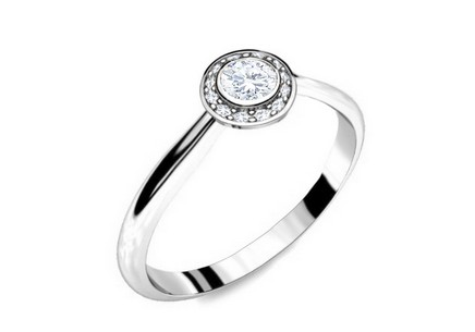Engagement Ring with Diamonds 0,210 ct Key To Heart 13