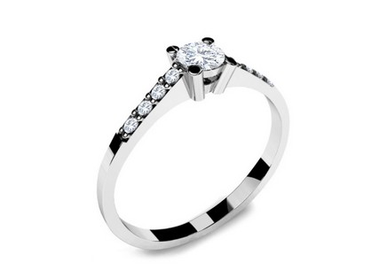 Engagement Ring with Diamonds 0,220 ct Key To Heart 9