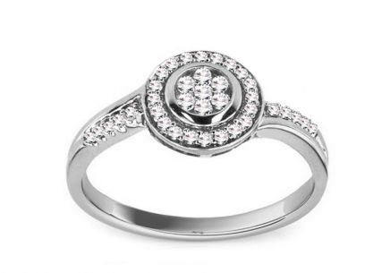 Engagement Ring with Diamonds 0,234 ct Ardiente