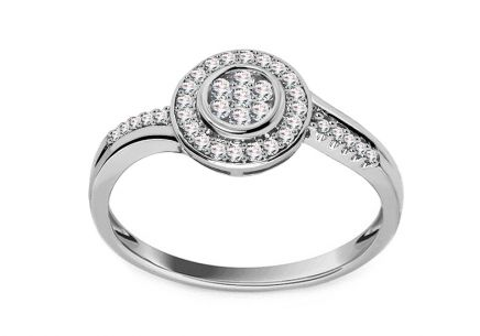 Engagement Ring with Diamonds 0,24 ct Ardiente