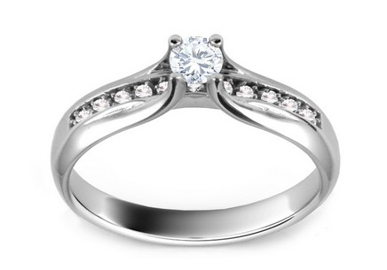 Engagement Ring with Diamonds 0,260 ct Shine Glory