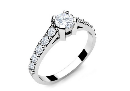 Engagement Ring with Diamonds 0,450 ct Key To Heart 4