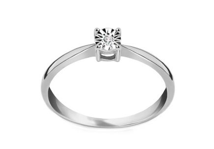 Engagement ring with Mariya diamond 0.010 ct