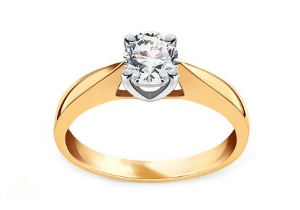 Engagement Ring with Shining Half Carat 0,500 ct Diamond 0.500 ct Isabele