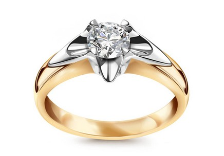 Engagement Ring with Sparkling Half Carat Diamond 0.500 ct Always big