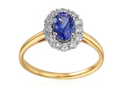 Engagement Ring withTanzanite and Diamonds