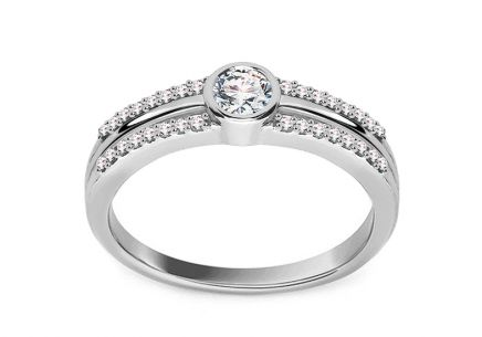 Exclusive White Gold Engagement Ring with Diamonds 0.330 ct Araceli