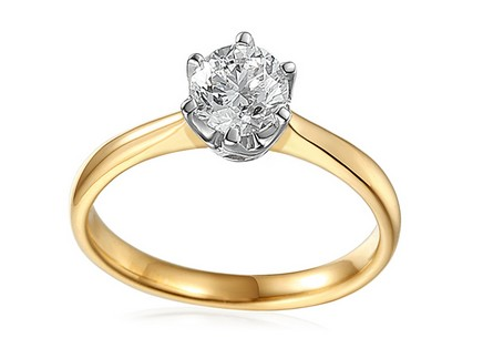 Gold Engagement Ring with 1.010 ct HRD Diamond Donna
