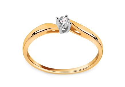 Gold Engagement Ring with Diamond 0.020 ct Cherise 2