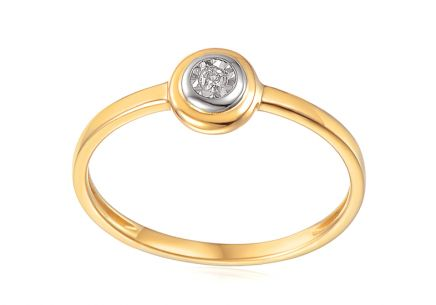 Gold Engagement Ring with Diamond 0.020 ct Christabel