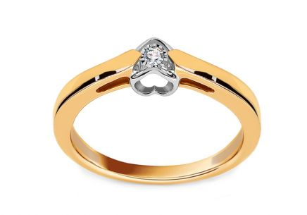 Gold Engagement Ring with Diamond 0.030 ct Reshma