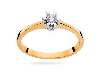 Gold Engagement Ring with Diamond 0.040 ct Haidee 2