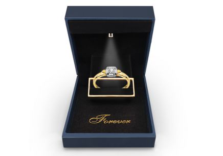 Gold Engagement Ring with Diamond 0,060 ct Melosia