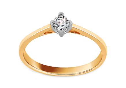 Gold Engagement Ring with Diamond 0.070 ct Aracelly