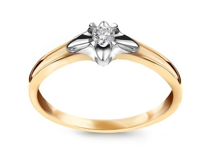 Gold Engagement Ring with Diamond 0,080 ct Always