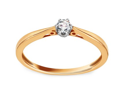 Gold Engagement Ring with Diamond 0.080 ct Tarly