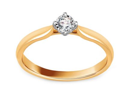 Gold Engagement Ring with Diamond 0.100 ct Annita