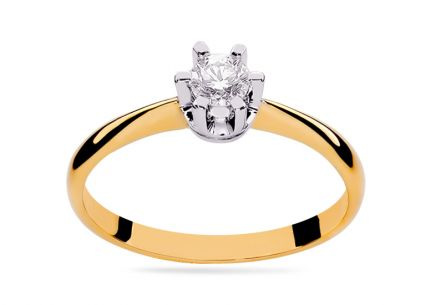 Gold Engagement Ring with Diamond 0.100 ct Kierra