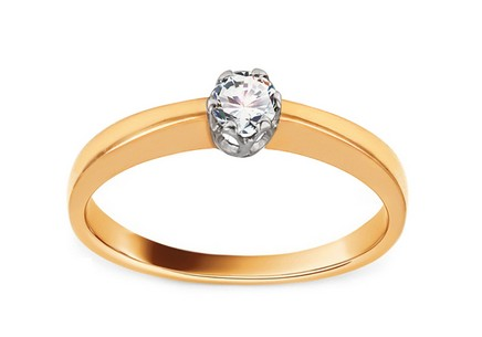 Gold Engagement Ring with Diamond 0.150 ct Abdia