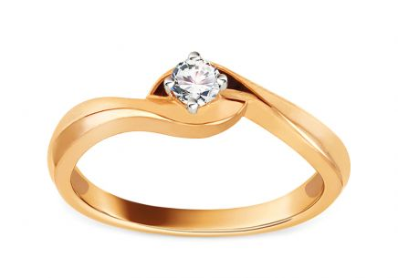 Gold Engagement Ring with Diamond 0.150 ct Jaelyn