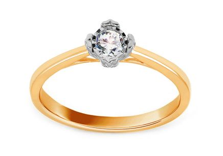 Gold Engagement Ring with Diamond 0.150 ct Mirielle