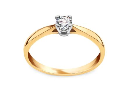 Gold Engagement Ring with Diamond 0.150 ct Royal Heart 3