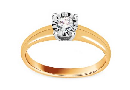 Gold Engagement Ring with Diamond 0.170 ct Martine 3