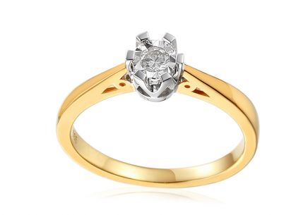 Gold Engagement Ring with Diamond Adalie