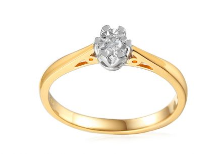Gold Engagement Ring with Diamond Adalie 2