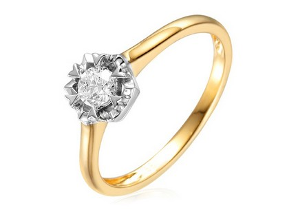 Gold Engagement Ring with Diamond Adel