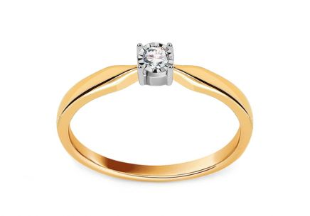 Gold Engagement Ring with Diamond Aliah