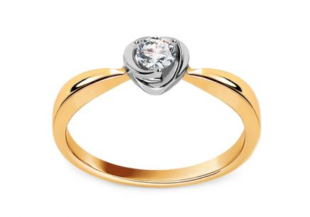 Gold Engagement Ring with Diamond Freya