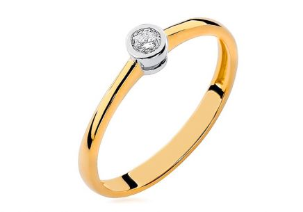 Gold Engagement Ring with Diamond Georgienne
