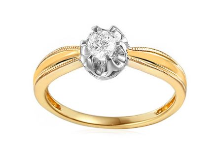 Gold Engagement Ring with Diamond Mireya