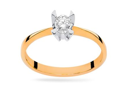 Gold Engagement Ring with Diamond Pallavi